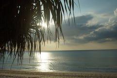 Sonnenuntergangszene im Meer Lizenzfreie Stockbilder