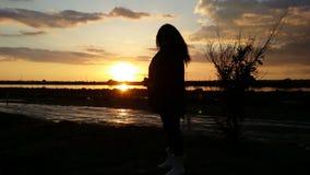 Sonnenuntergangträume lizenzfreie stockfotografie