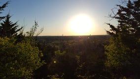 Sonnenuntergangunterlassung Stockbild