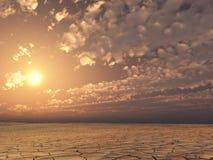 Sonnenuntergangwüste stock abbildung