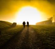 Sonnenuntergangweg Lizenzfreie Stockbilder