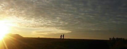 Sonnenuntergangweg lizenzfreie stockfotos