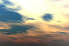 Sonnenuntergangwolken Lizenzfreies Stockfoto