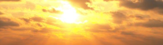 Sonnenuntergangwolken Lizenzfreie Stockfotografie