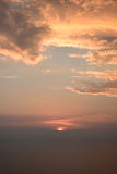 Sonnenuntergangwolken Lizenzfreies Stockbild