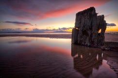 Sonnenuntergangwrack Lizenzfreies Stockbild