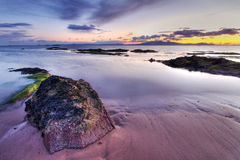 Sonnenuntergangwrack Stockfoto