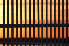 Sonnenuntergangzaun Lizenzfreie Stockfotos