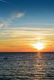 Sonnenuntergangzeit Budva, Montenegro Stockbild