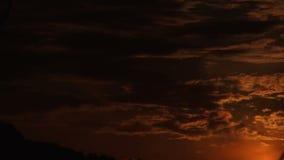 Sonnenuntergangzeitversehen stock video