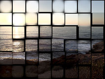 Sonnenuntergangzusammenfassung eines tropischen Sonnenuntergangs Stockfoto