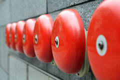 Sonnerie de sonnettes d'alarme Photos libres de droits