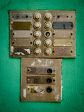Sonnerie rustique d'interphone d'appartement Photo stock