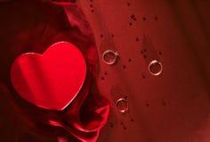 Sonnez la caisse avec un anneau argenté pour Valentine Images libres de droits