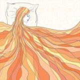 sonni della ragazza illustrazione di stock