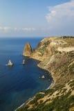 Sonnige Ansicht des Schwarzen Meers Stockfotografie