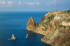 Sonnige Ansicht des Schwarzen Meers Stockfoto