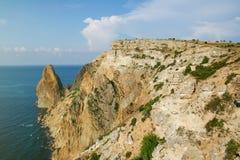 Sonnige Ansicht des Schwarzen Meers Lizenzfreies Stockbild
