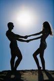 Sonnige Paare Lizenzfreie Stockbilder