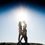 Sonnige Paare Stockfoto