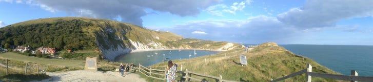 Sonnige Seeseite Vereinigten Königreichs Lizenzfreie Stockfotografie