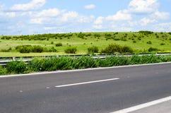 Sonnige Straße stockbilder