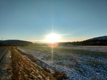 Sonnige Tage in Alta Finnmark Norway Lizenzfreies Stockbild