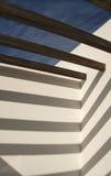 Sonnige Terrasse Stockbild
