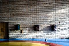 Sonnige Turnhalle Stockfoto