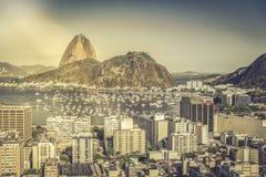 Sonnige Vogelperspektive Rio de Janeiros lizenzfreie stockbilder