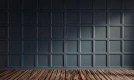Sonnige Wohnung mit klassischer Wand lizenzfreie stockbilder