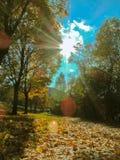 Sonniger Herbsttag in Österreich Lizenzfreies Stockfoto