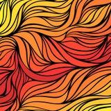 Sonniger Hintergrund der Vektorfarbhandzeichnungs-Welle Abstrakte Feuerbeschaffenheit der Steigung Stockbilder