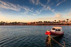 Sonniger Morgen auf dem ägyptischen Strand Hurgada Stockbilder