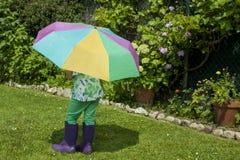 Sonniger regnerischer Tag Stockbilder