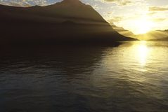 Sonniger See Stockfotografie