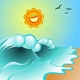 Sonniger Sommer Vektor Abbildung