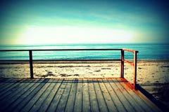 Sonniger Strand in einem Traum Lizenzfreies Stockfoto
