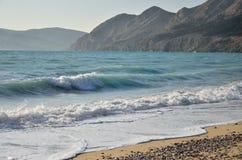 Sonniger Tag auf dem Strand lizenzfreie stockfotos