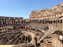 Sonniger Tag Colosseum Rom Stockbild