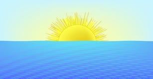 Sonniger Tag in dem Meer (AI-Format vorhanden) Stockfoto