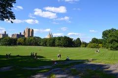 Sonniger Tag im Central Park Stockfoto