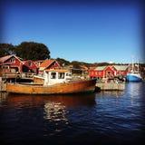 Sonniger Tag Jachthafen koster Schwedens Stockfotografie