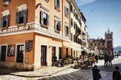 Sonniger Tag in Rovinj, Kroatien Stockfoto