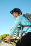 Sonniger Tagesradfahren stockbild