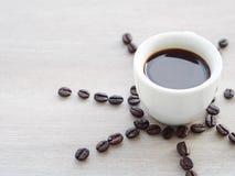 Sonniger Tasse Kaffee Stockfoto