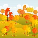 Sonniger Wald lizenzfreie abbildung