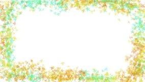 Sonniges Herbstahornblattrahmen-Designfoto Lizenzfreie Stockfotografie