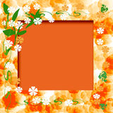 Sonniges orange Feld Lizenzfreies Stockbild