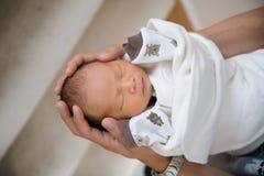 Sonno appena nato del bambino Immagine Stock Libera da Diritti
